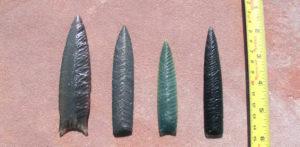 Lance Blades Obsidian and green jasper