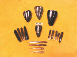 Obsidian Conical Blade Cores